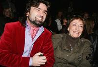 Annie Girardot and Ruslan Vetryanuk at the Julia Dalakian Fashion Show as part of Russian Fashion Week Spring/Summer 2007.