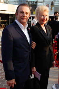 Roland Giraud and Maaike Jansen at the 25th Molieres Theatre Award Ceremony in Paris.