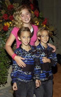 Sawyer Sweeten, Madylin Sweeten and Sullivan Sweeten at the party celebrating the 200th Episode of