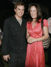 Annabeth Gish and Michael C. Hall at the Showtime's 30th Anniversary and Summer 2006 TCA party at a private residence.