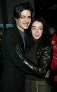 Jane Adams and boyfriend at the premiere of