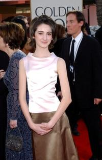 Hannah Taylor-Gordon at the 59th Annual Golden Globe Awards.