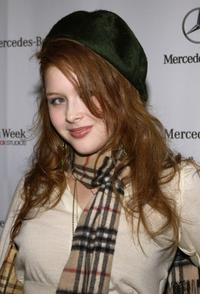 Renee Olstead at the Mercedes-Benz Fashion Week.