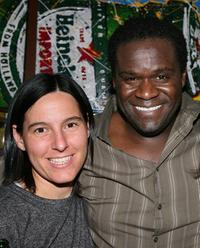 Producer Andrea Sperling and Markus Redmond at the party of