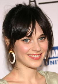 Actress Zooey Deschanel at the 20th Anniversary Genesis Awards in Beverly Hills.