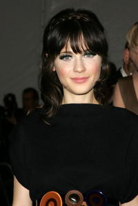 Actress Zooey Deschanel at the Metropolitan Museum of Art Costume Institute Benefit Gala: Anglomania in N.Y.
