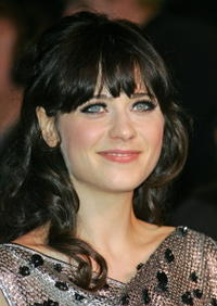 Actress Zooey Deschanel at the 2007 Vanity Fair Oscar Party in West Hollywood.