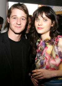 Actress Zooey Deschanel and Benjamin McKenzie at the IFC's Independent Spirit Awards After Party in Santa Monica.