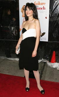Actress Zooey Deschanel at the N.Y. premiere of
