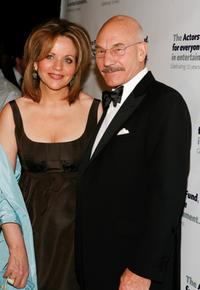 Renee Fleming and Patrick Stewart at the Actors Fund Annual Gala.