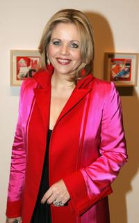 Renee Fleming at the opening of Richard Meiers art exhibition.