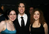 Stephanie D'Abruzzo, Josh Groban and Bernadette Peters at the after party of Stephen Sondheim's 75th Birthday Concert and ASCAP Foundation Benefit.