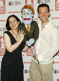 Stephanie D'Abruzzo and John Tartaglia at the 2004 Tony Awards Nominees Press Reception.