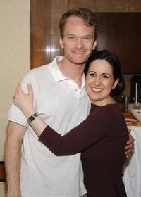 Neil Patrick Harris and Stephanie D'Abruzzo at the Distinctive Assets Talent Lounge And Spa For the 2004 Tony Awards.