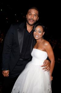 Robin Givens and Tyler Perry at the 39th NAACP Image Awards.