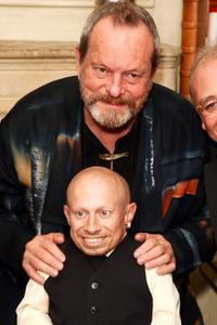Verne Troyer and Terry Gilliam at the UK premiere of