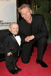 Verne Troyer and Dr. James Orbinski at the amfAR and Dignitas Inaugural Cinema Against AIDS Toronto event.