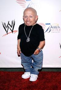 Verne Troyer at the WWE's SummerSlam Kickoff Party.