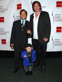 Rob Schneider, Verne Troyer and Director Quentin Tarantino at the 2008 JCPenney Asian Excellence Awards.