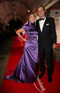 Uschi Glas and her husband Dieter Herrmann at the German film ball.