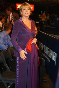 Uschi Glas at the WBO and IBF/IBO Unification Heavyweight World Championship.