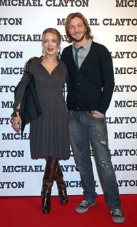 Carolina Crescentini and Silvio Muccino at the premiere of