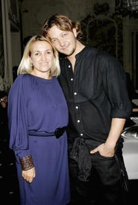 Silvia Venturini Fendi and Silvio Muccino at the New Cinema Network party.