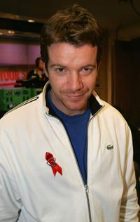 Max Beesley at the Terrence Higgins Trust and Topshop celebrity shopping evening and Jumbo Thrift-Sale.