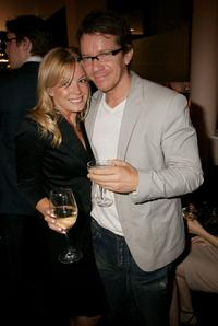 Max Beesley and Guest at the launch party for the Sanctum Soho Hotel.