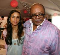 Kidada Jones and Producer Quincy Joens at the Kidada Jones Disney Couture party.