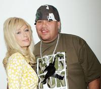 Paris Hilton and Fat Joe at the MTV's Total Request Live.