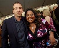 Bryan Callen and Sherri Shepherd at the VIP Reception during the 6th Annual Comedy For A Cure.