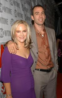 Rachael Harris and Bryan Callen at the premiere of