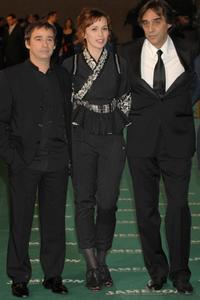 Eduard Fernandez, Ariadna Gil and Agustin Diaz Yanes at the Goya Cinema Awards ceremony.