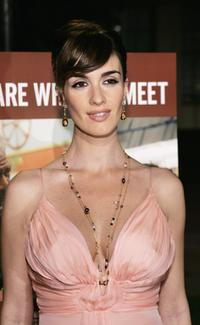 Paz Vega at the Los Angeles premiere of