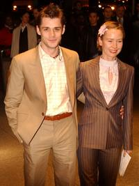 Kenny Doughty and Caroline Carvel at the premiere of
