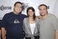 Director Alfredo de Villa, Director Elizabeth Gardner and Richard Petrocelli at the after party of the photocall of
