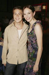 Michael Angarano and Danielle Panabaker at the afterparty premiere of