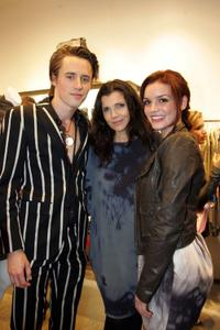 Reeve Carney, Ali Hewson and Jennifer Damiano at the Scoop NYC & EDUN celebration of Fashion's Night Out.