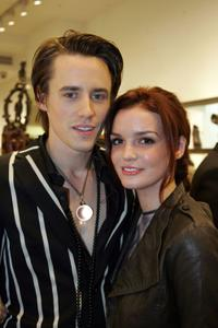 Reeve Carney and Jennifer Damiano at the Scoop NYC & EDUN celebration of Fashion's Night Out.