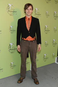 Reeve Carney at the Perrier-Jouet celebrates Michael Kalish's Belle Epoque Sculpture.
