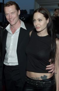 Iain Glen and Angelina Jolie at the premiere of