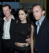 Iain Glen, Angelina Jolie and Daniel Craig at the premiere of