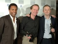 Ray Fearon, Iain Glen and Dominic Cooke at the Lawrence Olivier Theatre Awards.