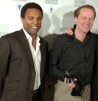 Ray Fearon and Iain Glen at the Lawrence Olivier Theatre Awards.