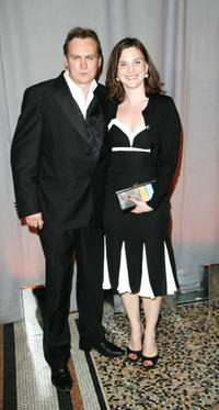 Philip Glenister and Guest at the after party of National Television Awards 2007.