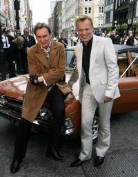 Philip Glenister and Graham Norton at the British Academy Television Awards.