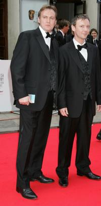Philip Glenister and John Simm at the British Academy Television Awards.