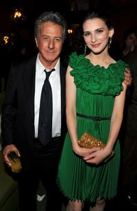 Dustin Hoffman and Liane Balaban at the premiere of