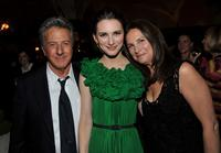 Dustin Hoffman, Liane Balaban and Lisa Gottsegen at the premiere of
